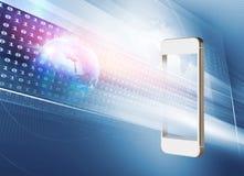 Nouvelles technologies ou nouvelles applications sur le concept de smartphones illustration libre de droits