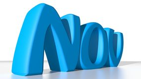 NOV blue Royalty Free Stock Image