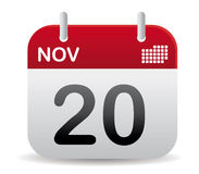 Nov calendar stand up Royalty Free Stock Image