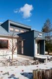 Modern Japanese house or bakery shop in Hokkaido royalty free stock image