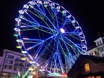 2017 Nov 24 Montreux Swiss - Ferris Wheel at Christmas Market in Montreux, Switzerland.  Royalty Free Stock Images