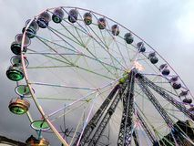 2017 Nov 23 Montreux Swiss - Ferris Wheel at Christmas Market in Montreux, Switzerland.  Royalty Free Stock Photography