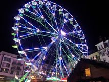 2017 Nov 23 Montreux Swiss - Ferris Wheel at Christmas Market in Montreux, Switzerland.  Stock Photography