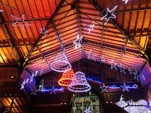 2017 24 Nov. Montreux Zwitser - mening van Kerstmismarkt in Montreux, Zwitserland Royalty-vrije Stock Foto