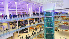 NOV 30, 2014 Shopping mall AVIAPARK, Moscow, Russia. Just opened Royalty Free Stock Photos