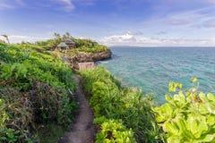 19,2017 nov. Toerist die bij Crystal Cove-eiland, Boracay lopen royalty-vrije stock afbeelding