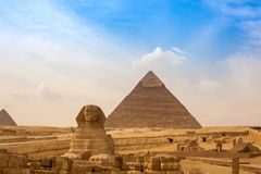 NOV. 2012 van Egypte, Kaïro: Gizapiramide Stock Afbeelding