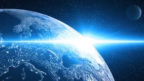 Nova derrière la planète Images libres de droits