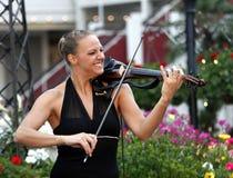 Nova era violinist Stock Photo