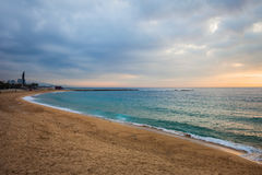Nova Icaria Beach in Barcelona Stock Image