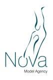 Nova Model Agency Logo. Logo Design for Model Agency Royalty Free Stock Photo