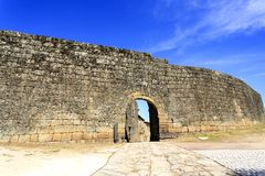 Sortelha – Nova Gate. The Nova New Gate is a gate with a round arch with three rows of arch stones sitting on imposts and is the oldest gate of the medieval Royalty Free Stock Photos