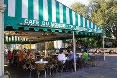 Nova Orleães Café Du Monde Imagens de Stock Royalty Free