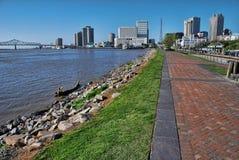Nova Orleães e o Mississippi foto de stock