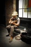 Nova Orleães - músico da rua Imagens de Stock Royalty Free
