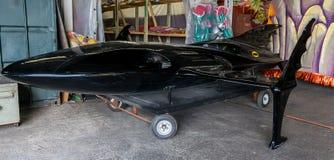 Nova Orleães Mardi Gras World - Batmobile Foto de Stock Royalty Free