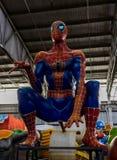 Nova Orleães Mardi Gras World - homem-aranha Fotos de Stock