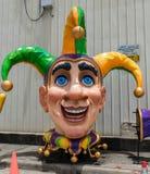Nova Orleães Mardi Gras World Jester Fotos de Stock Royalty Free