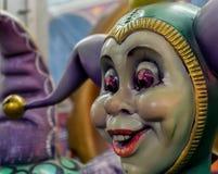 Nova Orleães Mardi Gras World - Jester Face Fotografia de Stock Royalty Free