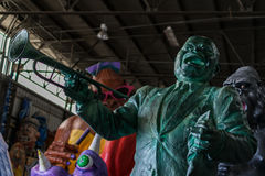 Nova Orleães Mardi Gras World - Louis Armstrong Fotografia de Stock Royalty Free