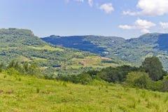 Nova Petropolis countryside valley view. Stock Photo