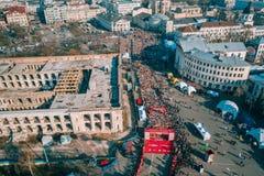 Nova Poshta Kyiv Half Marathon. Aerial view.
