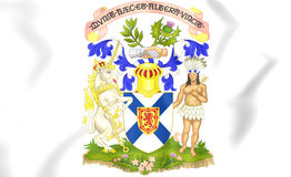 Nova Scotia Coat of Arms, Canada. Royalty Free Stock Photo
