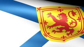 Nova Scotia Flag Waving stock de ilustración