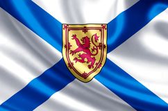 Nova Scotia flaggaillustration royaltyfri illustrationer