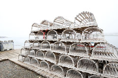 Nova Scotia Lobster Traps, Canada Royalty Free Stock Photography