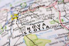 Nova Scotia op kaart Stock Fotografie