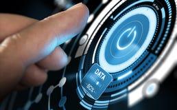 Nova tecnologia, interface de utilizador futurista Imagens de Stock Royalty Free