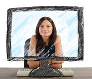 Nova tecnologia no escritório Imagens de Stock