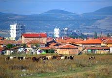 Nova Zagora city outskirts Bulgaria Stock Images