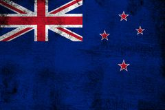 Nova Zelândia oxidada e ilustração da bandeira do grunge ilustração royalty free