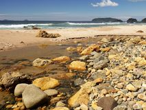 Nova Zelândia: Te Karo Bay, Coromandel Imagem de Stock Royalty Free