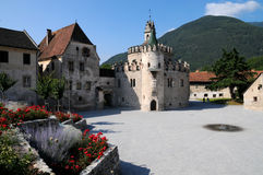 Novacella修道院,瓦尔纳,波尔查诺,特伦托自治省女低音阿迪杰 库存照片