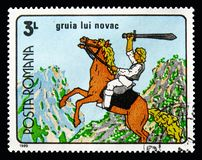 Novacestii, Romanian Cartoons serie, circa 1989. MOSCOW, RUSSIA - AUGUST 18, 2018: A stamp printed in Romania shows Novacestii, Romanian Cartoons serie, circa royalty free stock image