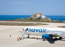 Novair σε Santorini 3 Στοκ φωτογραφία με δικαίωμα ελεύθερης χρήσης