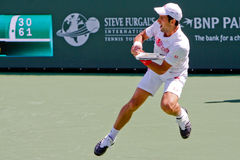Novak Djokovic at the 2010 BNP Paribas Open Royalty Free Stock Photography