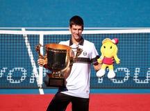 Novak Djokovic beim Porzellan 2010 geöffnet Stockfoto