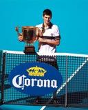 Novak Djokovic beim Porzellan 2010 geöffnet Lizenzfreies Stockfoto