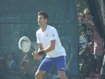 Novak Djokovic bij Coupé Rogers Cup - Montreal Canada stock foto