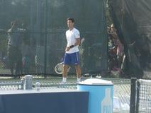 Novak Djokovic bij Coupé Rogers Cup - Montreal Canada stock foto's
