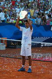 Novak Djokovic with the champions trophy Stock Photos