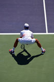Novak Djokovic Crouch for Service Return Stock Images