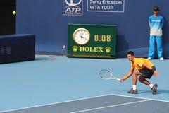 Novak Djokovic in de halve finale van Open China Stock Foto