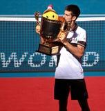 Novak Djokovic de Serbia Fotografia de Stock