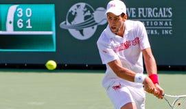 Novak Djokovic en el BNP 2010 Paribas abierto Fotos de archivo