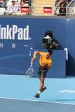 Novak Djokovic en el semifinal de la China abierta Imagenes de archivo